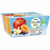 Nestlé Naturnes Bio pomme abricot vanille dès 6 mois 4x90g