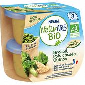 Nestlé Naturnes Bio végétal brocolis, pois cassé, quinoa dès 8 mois 2x190g