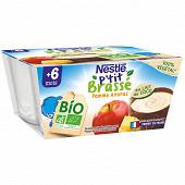 Nestlé P'tit Brassé Bio végétal Lait de coco, pomme & ananas dès 6 mois 4x90g