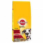 Pedigree croquettes adulte grand chien au boeuf sac 15kg