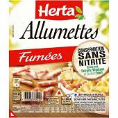 Herta allumettes fumées conservation sans nitrite x2 150g