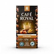 Café royal capsules aluminium caramel type nespresso x10 50g