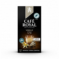 Café royal capsules aluminuim vanille type nespresso x10 50g