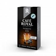 Café Royal capsules aluminium ristretto type nespresso x10 52g