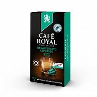 Café Royal capsules aluminium decaffeinato type nespresso x10 52g