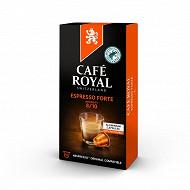 Café Royal capsules aluminium espresso forte type nespresso x10 52g