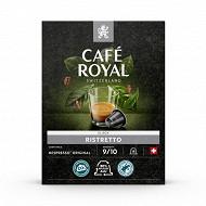 Café Royal capsules aluminium ristretto type nespresso x18 95g