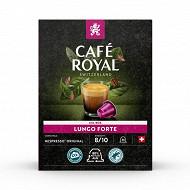 Café royal capsules aluminium lungo forte type nespresso x36 190g