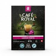 Café Royal capsules aluminium lungo forte type nespresso x18 99g