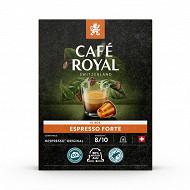 Café Royal  capsules aluminium espresso forte type nespresso x18 93G