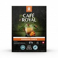 Café Royal capsules aluminium espresso forte type nespresso x36 190g