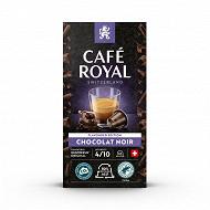 Café royal capsule alu chocolat x10 50g