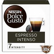 Nescafé Dolce Gusto Espresso Intenso, capsule café intensité 7  - x30 dosettes