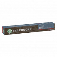 Starbucks by Nespresso - Espresso roast décaféiné, capsule café torrefaction brune x10