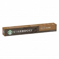 Starbucks by Nespresso house blend lungo capsules café torréfaction ambrée x10