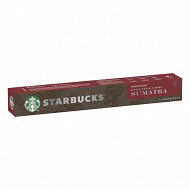 Starbucks by Nespresso - Sumatra, capsule café torrefaction brune x10