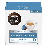 Nescafé Dolce Gusto Espresso Palermo, capsule café intensité 10 - x16 dosettes