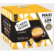 Carte Noire capsules type dolce gusto lungo n°5 x24 192g