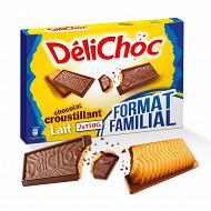 Delichoc chocolat au lait format familial 300g