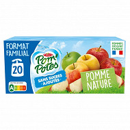 Pom'potes sans sucres ajoutés pomme nature 20x90g