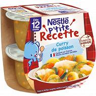 Nestlé P'tite Recette Curry de poisson dès 12 mois 2x200g