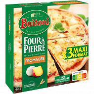 BUITONI FOUR A PIERRE pizza surgelée Fromages MAXI 3x315g