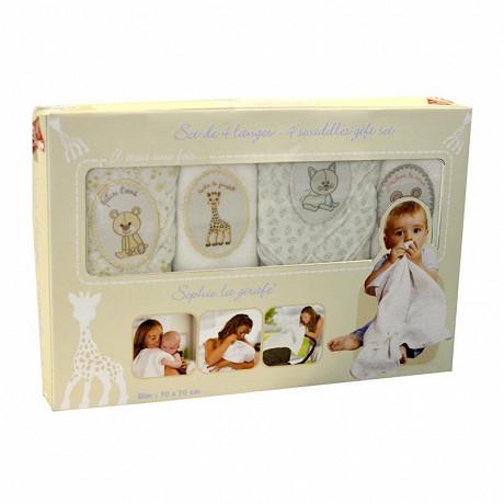4 langes dans boîte Sophie la Girafe