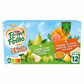 Pom'potes ssa 5 fruits exotiques 5 fruits verts 12x90g