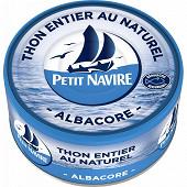Petit navire  thon naturel albacore démarche reponsable 185g net égoutté