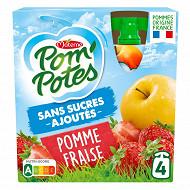Pom'potes ssa pomme fraise 4x90g