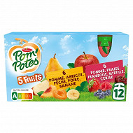 Pom'potes ssa 5 fruits rouges/5fruits jaunes 12x90g