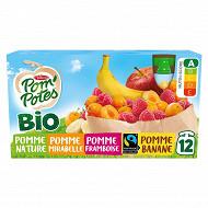 Pom'pote bio pomme mirabelle framboise banane 12x90g