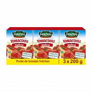 Panzani sauce tomacouli nature 200g x 3
