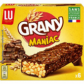 Grany 6 barres maniac chocolat 160g