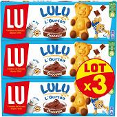 Lulu l'ourson chocolat lot x3 450g