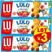 Lulu l'ourson fraise x3 450g