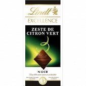 Lindt excellence noir zeste de citron vert 100g