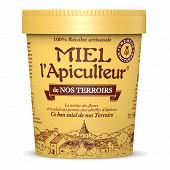 Miel l'apiculteur miel de nos terroirs, récolte locale pot carton 500 g