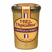 Miel l'Apiculteur miel crémeux de France pot verre 500 g