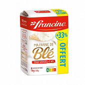 Francine farine de blé 1kg + 330g offerts