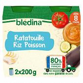 Bledina pots ratatouilles riz poisson 2x200g