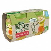Bledina les récoltes bio cocktail de fruits 6 mois 2x130g