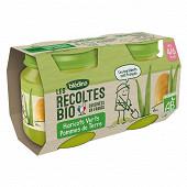 Bledina les récoltes bio haricots verts pommes de terre dès 4-6 mois 2x130g