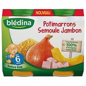 Bledina potimarron semoule jambon 6 mois 2x200g