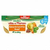 Bledina idm bols 2x200g epinard carottes boeuf des 6 mois