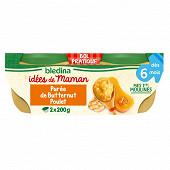 Blédina IDM bols purée de potirons poulet 2x200g des 6 mois