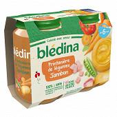 Bledina Pots Printaniere Legumes Jambon 2X200G 6 mois