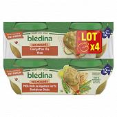 Blédina IDM courgettes riz veau/lég boulghour dinde 4x200g dès 12M
