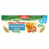 Bledina idm bols tomates semoule poisson 2x200g des 6 mois