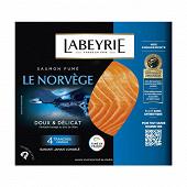 Labeyrie saumon fumé Norvège 4 tranches 140g